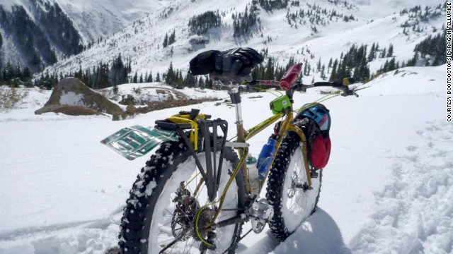 Set out in the snow on a big-tire bike in Telluride, Colorado.