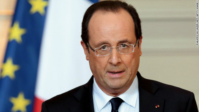 John Gaffney says Francois Hollande, seen here at the Elysee Palace on January 11, 2013, needs to rethink his presidency.