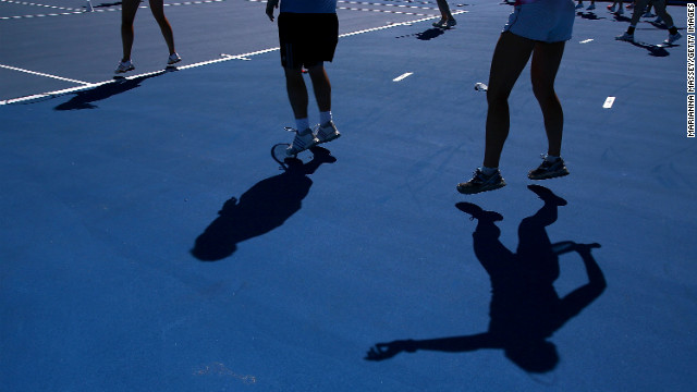 Participants work up a sweat during a pre-match cardio workout on January 15.