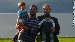 Sussman with his wife, Alicky, and their two sons, Ezra and Jude, in 2009.