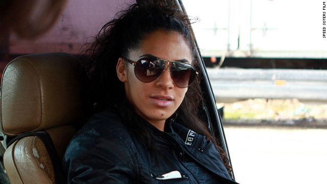 Noor Daoud, 23, in her BMW. Daoud is about to compete in a professional drift race in the United Arab Emirates, which she hopes will be the start of a top-flight international career.