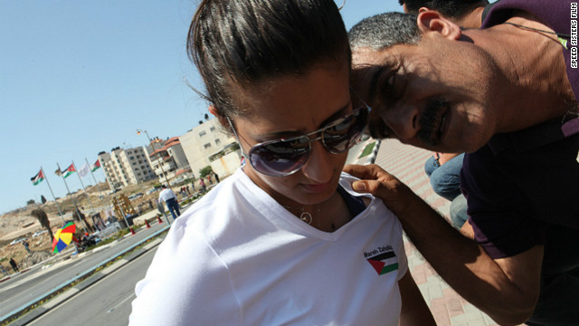 Marah Zahalka with her father Khaled, who has supported her career. Some of the Speed Sisters have received encouragement from their families, while others have had to persuade them of their choice.