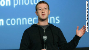 Facebook CEO Mark Zuckerberg introduces the company\'s \