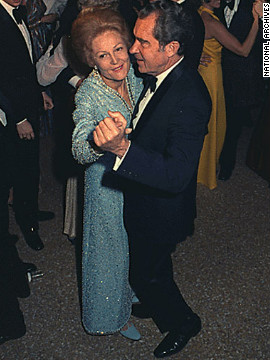 Pat and President Richard Nixon dance during a ball commemorating his second inauguration in 1973.