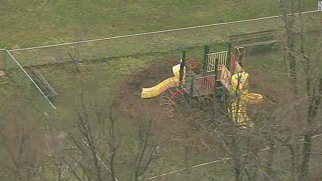 An aerial image of the playground where the girl was found.