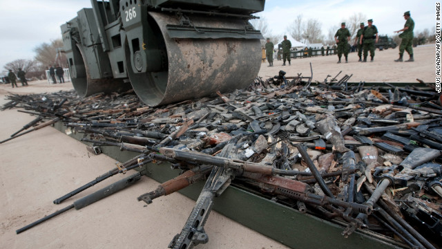 Thousands of confiscated firearms are destroyed last year in the