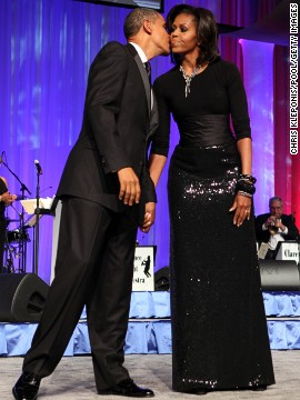 The first lady worked her signature elegance at the Congressional Black Caucus' Annual Phoenix Awards in 2011, pairing a floor length, double-face paillette fishtail skirt by Michael Kors with a black top and a Peter Soronen corset belt, Taylor said.