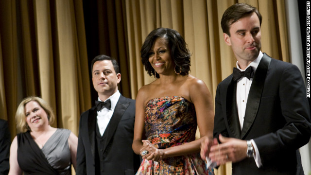 Obama wore another gown by Indian-American designer Naeem Khan at the White House Correspondents Dinner in April 2012 in Washington, Taylor noted.