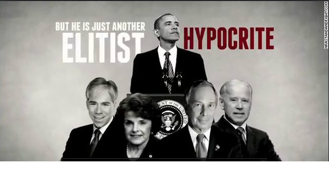 NRA airs new TV ad criticizing Obama on eve of White House gun announcement