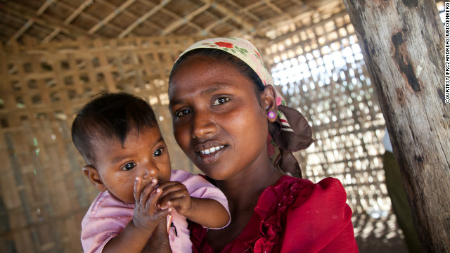 "Thida, 23, and her family have been living in Say Thamar Gyi camp for seven months after her home and her shop were burned down during the violence. ""I cannot go back,"" she said. ""I'm in big trouble, as I have no job here, and I want to send my children to school, but there is no school."""