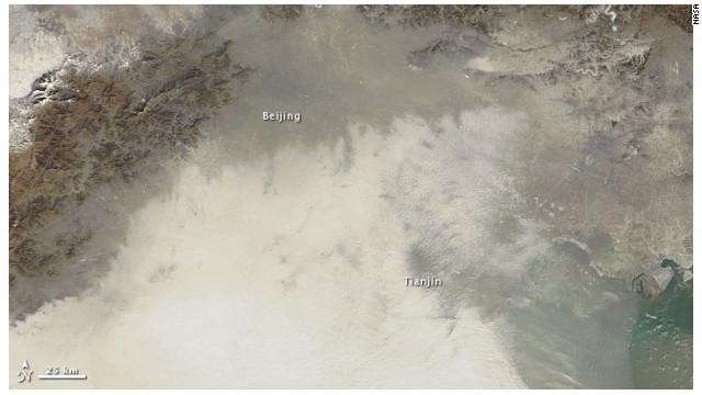 La contaminación en China vista desde el espacio
