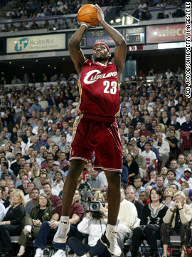James started his NBA career with the Cleveland Cavs in 2003 after being the number one overall pick in the draft. Though they didn't make the playoffs, James averaged over 20 points in his first season, matching the feat of Oscar Robertson and a certain Michael Jordan.
