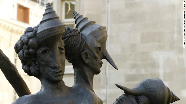 """Choleric, Phlegmatic, Melancholy, Sanguine"" (2009-2010) is a bronze sculpture inspired by the multi-limbed Hindu goddess Kali, who is associated with empowerment and conquering evil."