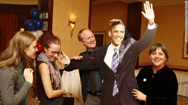 SLOVAKIA: Americans living in Slovakia celebrate Obama's presidential victory on November 5, 2008, in Bratislava.
