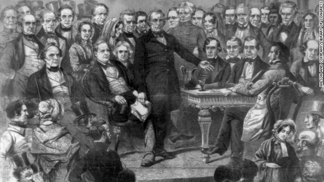 Zachary Taylor is sworn in on March 5, 1849.