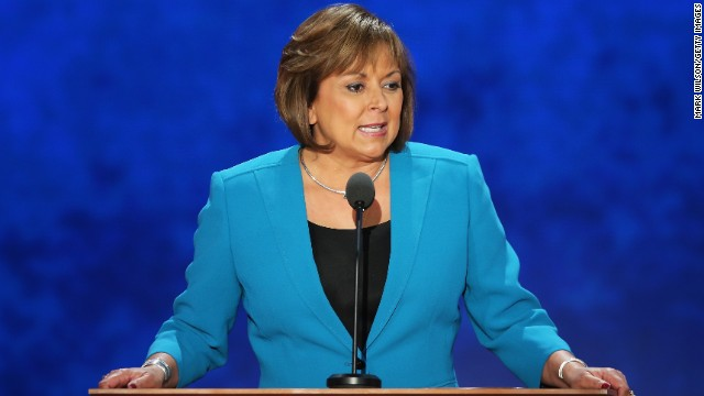 New Mexico Gov. Susana Martinez speaks at the Republican National Convention in Tampa, Florida, on August 29, 2012.