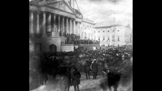 James Buchanan's inauguration is held at the U.S. Capitol on March 4, 1857.
