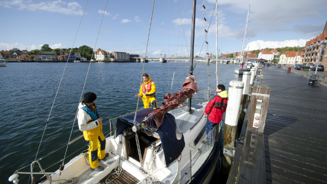 The Hackerfleet yacht rests at a port before setting out on one of their many &quot;missions&quot; in October 2012