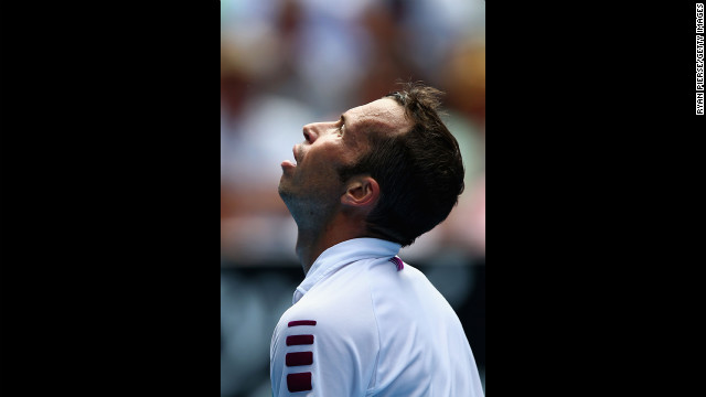 Stepanek reacts after a shot on January 18.