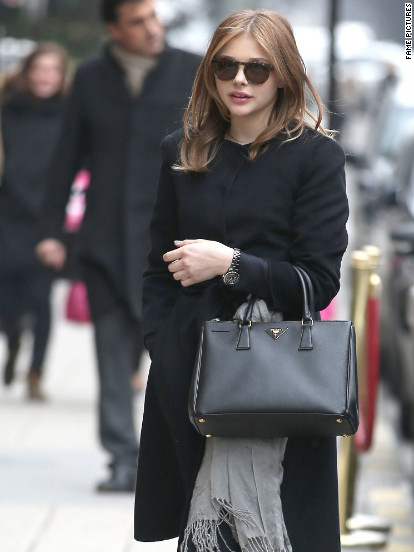 Chloe Grace Moretz arrives in Paris.