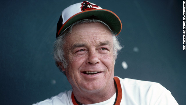 Baseball Hall of Fame manager Earl Sidney Weaver, who led the Baltimore Orioles to four pennants and a World Series title with a pugnacity toward umpires, died January 19 of an apparent heart attack at age 82, Major League Baseball said.
