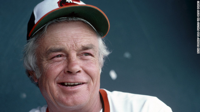 Earl Weaver in the 1980s. In 1983 he led the Baltimore Orioles to a World Series title.