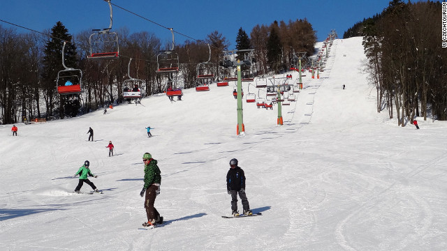 Cerna Hora has 14 slopes and is accessed by the country's only eight-person gondala.
