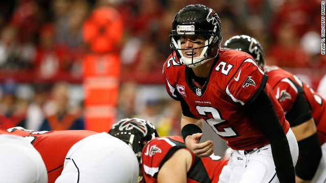 Falcons quarterback Matt Ryan calls out from under center while taking on the San Francisco 49ers.