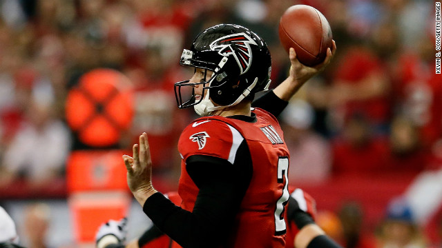 Matt Ryan of the Atlanta Falcons throws the ball in the Sunday's game against the San Francisco 49ers.