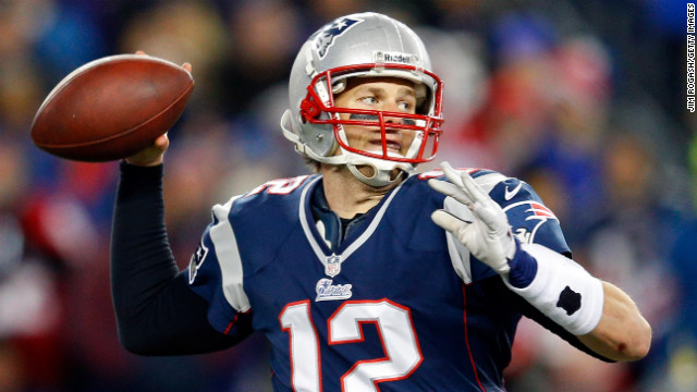 Patriots quarterback Tom Brady looks to throw in Sunday night's game against the Baltimore Ravens.