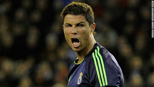 Portuguese striker Cristiano Ronaldo was in fine form as Real Madrid won 5-0 at Valencia