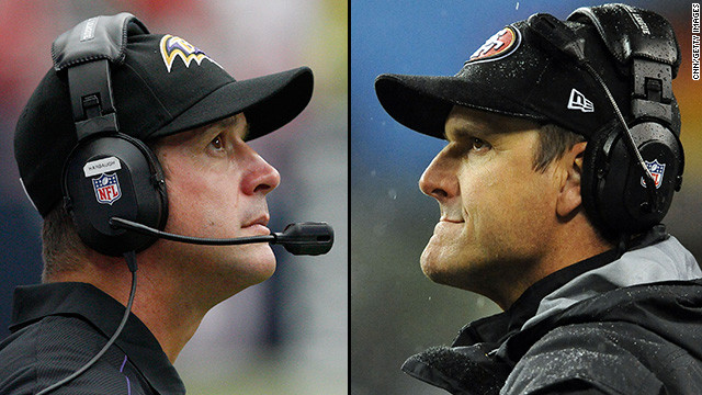 John Harbaugh, left, and Jim Harbaugh will become the first siblings to face each other as coaches in a major sports match-up this Super Bowl Sunday. Here's a look at some of the most dramatic, best-known sibling rivalries -- real and fictional:&lt;!-- --&gt;