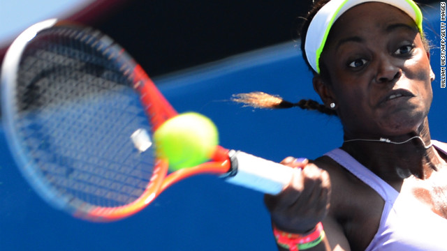 American Sloane Stephens makes a return against Bojana Jovanovski of Serbia on January 21. Stephens defeated Jovanovski 6-1, 3-6, 7-5.