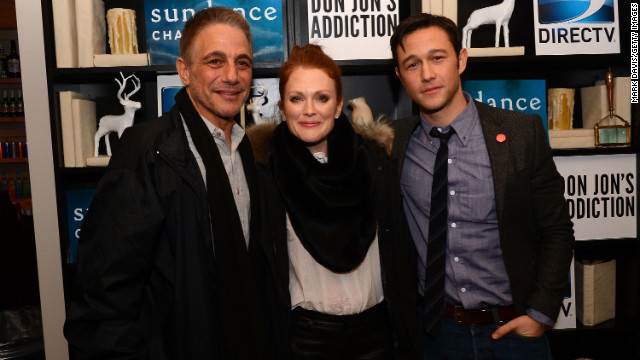Tony Danza, left, Julianne Moore and Joseph Gordon-Levitt at the &quot;Don Jon's Addiction&quot; premiere party.