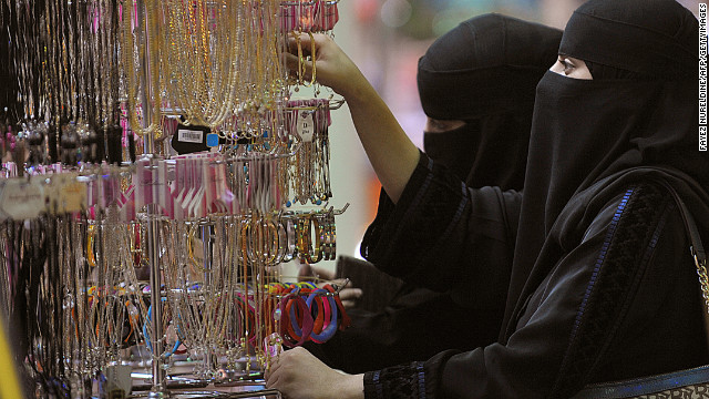 (File photo) Saudi women shop at a local mall in Riyadh on August 18, 2012.