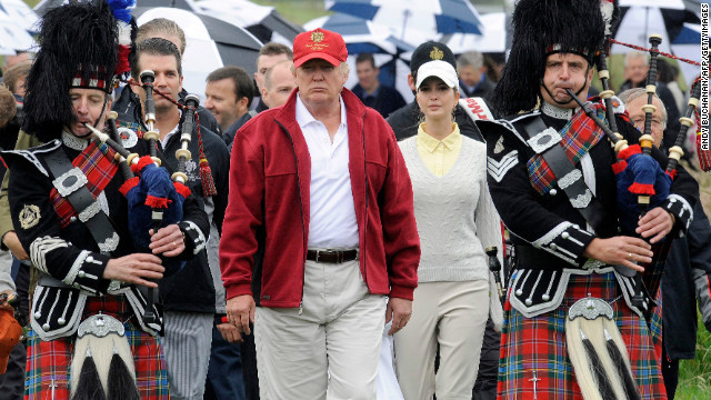 Trump says Europe is a terrific place for investment -- he recently invested into building a golf course in Scotland.