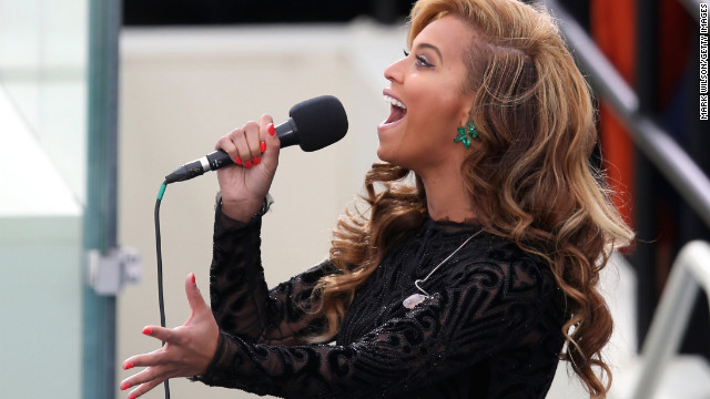 "A spokesperson for the U.S. Marine Band told CNN Beyonce used a ""prerecording"" of her rendition of the national anthem during inaugural ceremonies in Washington on Monday. But Bey isn't the first artist to rely on a prerecorded track:"