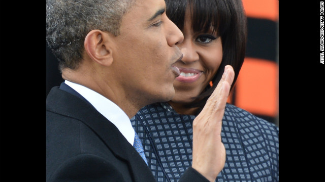 Obama takes the oath of office January 21. The nation's first African-American president used a pair of Bibles -- one from Abraham Lincoln, the other from the Rev. Martin Luther King Jr.