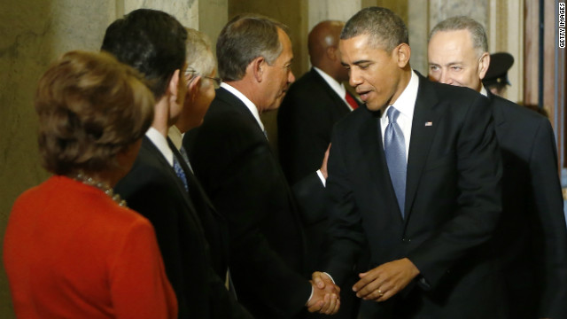 Conservatives lay low as Obama takes oath