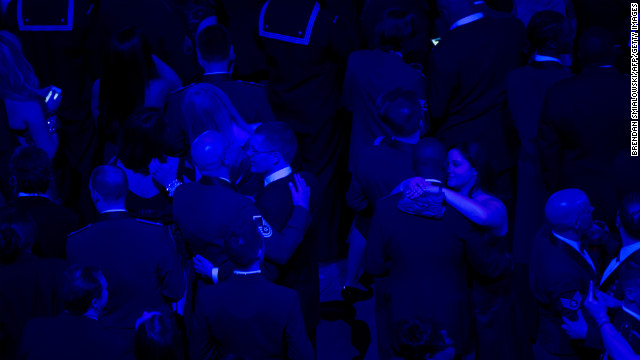 Service members and their loved ones dance during the Commander-in-Chief's Ball.
