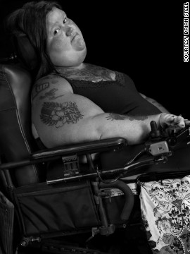 "Jessica, an accomplished visual artist, was born with spinal muscular atrophy. She teaches drawing as an adjunct professor at Georgia Perimeter College in Dunwoody. ""The greatest obstacles are those I set for myself,"" she says. ""I define my strength daily by living for the moments of triumph where the label of 'weak' is obsolete."""