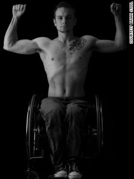 Richard, a former body builder, was paralyzed during a running accident. He now works as an Apple specialist.