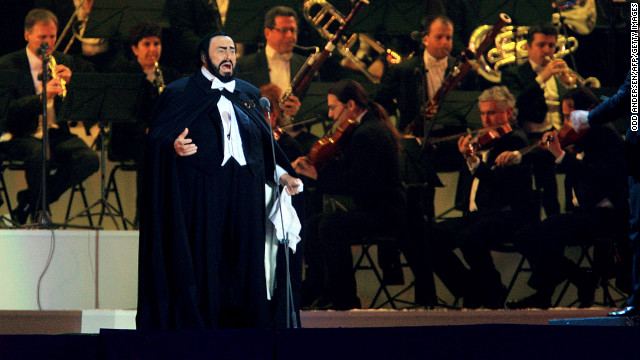 Luciano Pavarotti lip-synced his performance at the opening ceremony of the 2006 Winter Games in Turin, Italy, conductor &lt;a href='http://www.cbc.ca/news/arts/music/story/2008/04/07/pavarotti-olympics-lipsync.html' target='_blank'&gt;Leone Magiera wrote in his book&lt;/a&gt; in 2008. Low temperatures reportedly made it dangerous for him to perform live. Pavarotti died of cancer in September 2007.