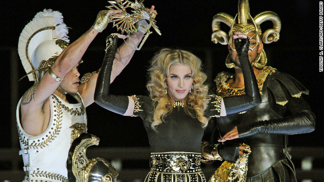 Madonna was &lt;a href='http://dallas.sbnation.com/2012/2/5/2773985/2012-superbowl-halftime-show-madonna' target='_blank'&gt;accused of lip-syncing&lt;/a&gt; during the Super Bowl halftime show in 2009. But in all fairness, she was dancing around quite a bit.