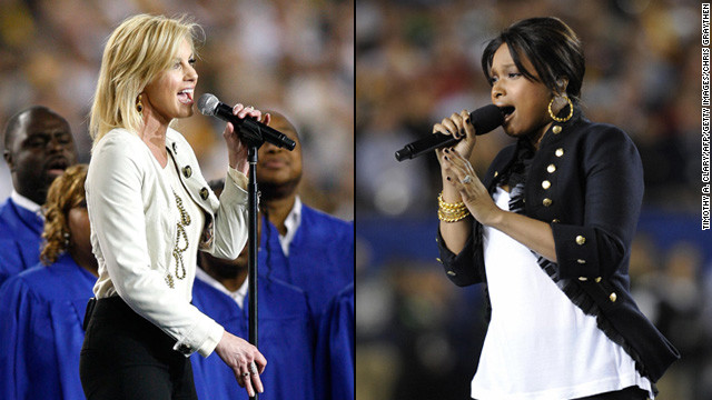 Jennifer Hudson and Faith Hill &lt;a href='http://artsbeat.blogs.nytimes.com/2009/02/02/super-bowl-performances-used-recorded-tracks/' target='_blank'&gt;reportedly sang along&lt;/a&gt; to prerecorded renditions during their performances at the 2009 Super Bowl.