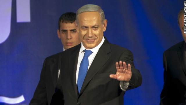 Benjamin Netanyahu (foreground) won but only just.