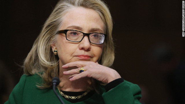 Clinton testifies before the Senate Foreign Relations Committee on Capitol Hill on January 23, in Washington, DC. Lawmakers questioned Clinton about the security failures during the September 11 attacks against the U.S. mission in Benghazi, Libya, that led to the death of four Americans, including U.S. Ambassador Christopher Stevens.