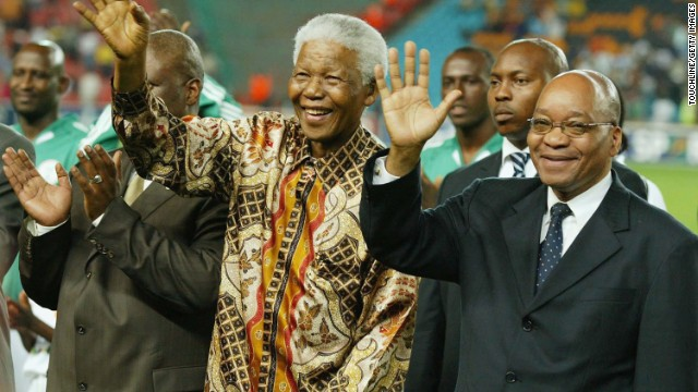 Unlike the policies of Nelson Mandela, who de-militarized the police, his successor Jacob Zuma, right, has adopted a much more hard-line approach, according to Justice Malala.