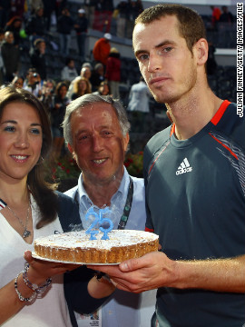 "Like his childhood friend Djokovic, U.S. Open champion Andy Murray has also gone gluten-free. This cake he received for his 25th birthday, even if made without wheat, could still be problematic for his diet as an elite performer due to any processed sugars and dairy in the ingredients. ""Hamish's protocols basically remove sugar and the gluten from your diet, sometimes the dairy, to help cleanse and restore the hormonal system and the digestive system,"" says tennis coach Pete McCraw. ""It's the gut flora that the sugar plays havoc with, it changes the bacteria levels in the stomach, which for some athletes, means they digest food inefficiently."""