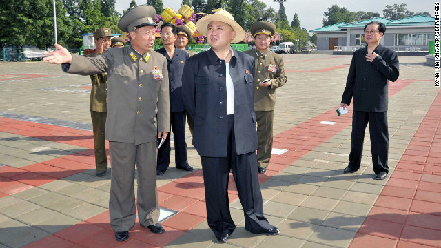 Kim Jong Un visits the Rungna People's Pleasure Ground, which is under construction in Pyongyang, in a photo released on July 3, 2012, by North Korea's official Korean Central News Agency.
